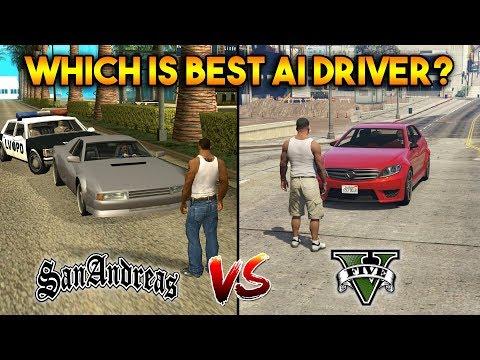GTA 5 AI DRIVERS VS GTA SAN ANDREAS AI DRIVERS : WHICH IS BEST?