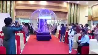 Mirror Globe Bride Groom Entry.