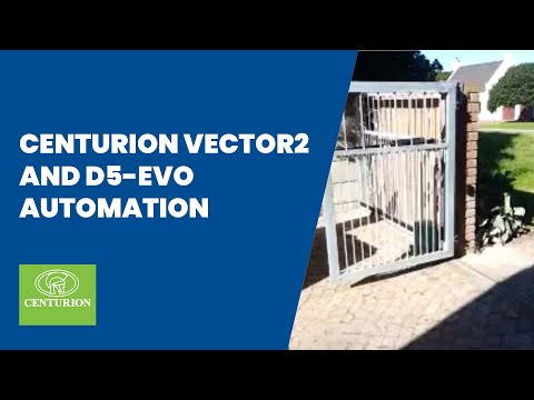 CENTURION VECTOR2 and D5-Evo Automating Swing / Slide Combo Gate