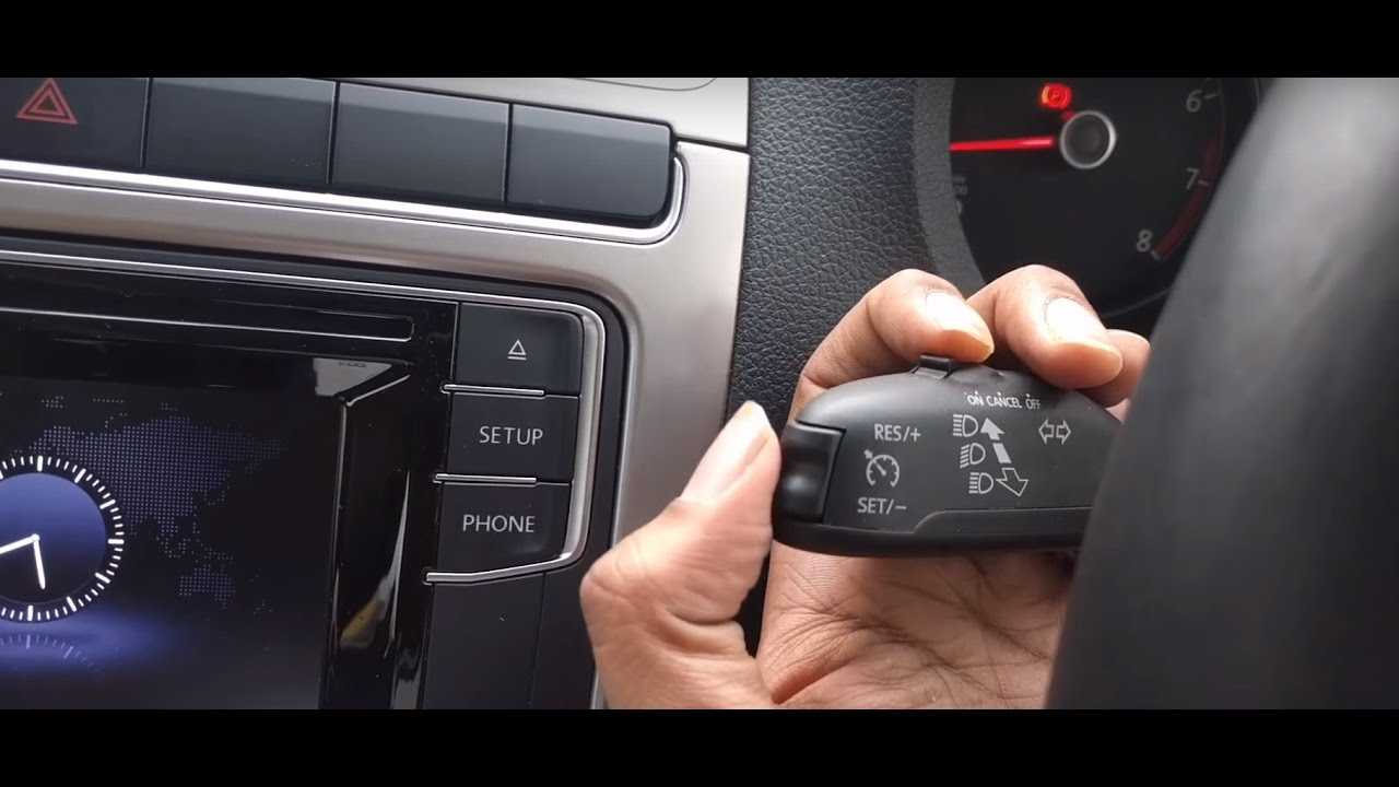 Cruise Control on the New Volkswagen Polo 1.2 mpi Highline