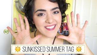 Sunkissed Summer Tag (en español) | Laura Neuzeth