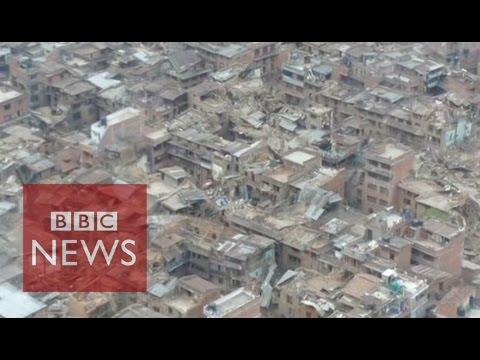 Nepal Earthquake: Aerial video reveals devastation - BBC News