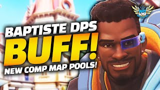 Overwatch - Big Comp Changes! - Baptiste DPS Buff! - New Map Pools! Horizon and Paris Removed S19!