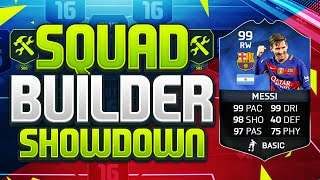 FIFA 16 SQUAD BUILDER SHOWDOWN!!! TEAM OF THE YEAR MESSI!!! 99 Rated TOTY Messi Squad Duel