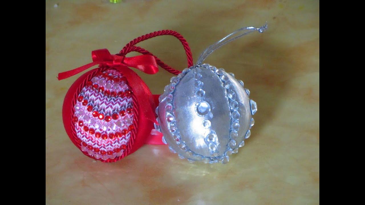 Ben noto Realizzare le palline di Natale con la stoffa - YouTube TU79