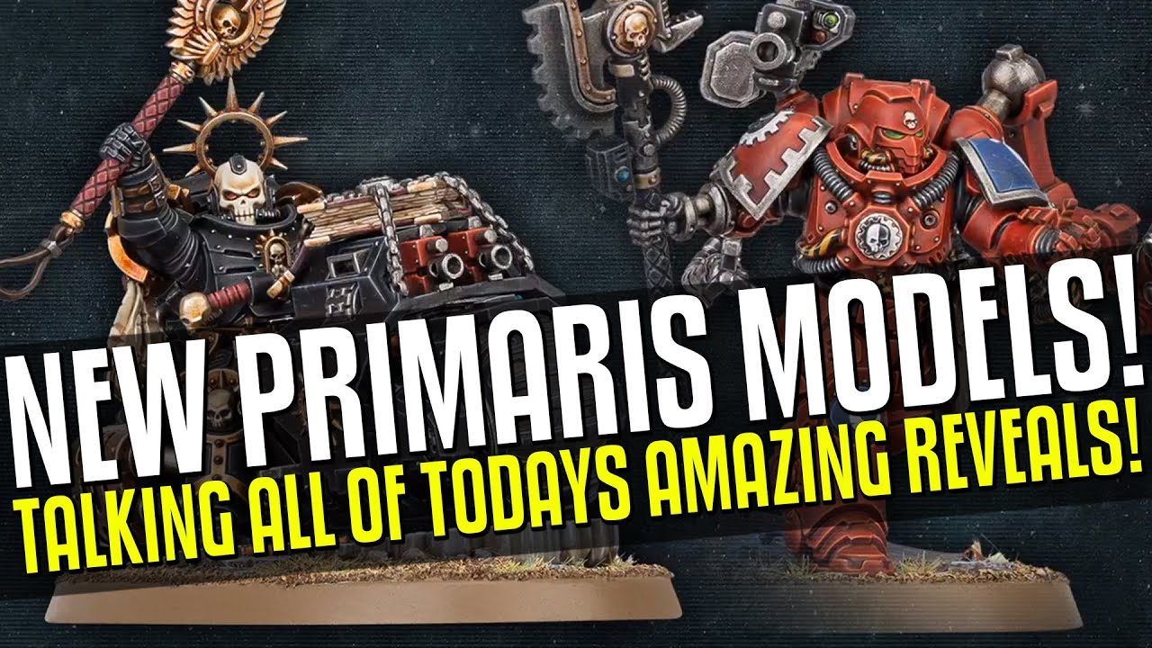 NEW Primaris Chaplain on a Bike & Techmarine Model Revealed! Silent King and the Void Dragon of Mars