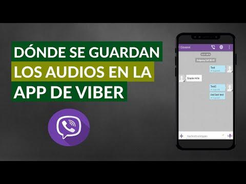 Dónde se Guardan los Audios en Viber