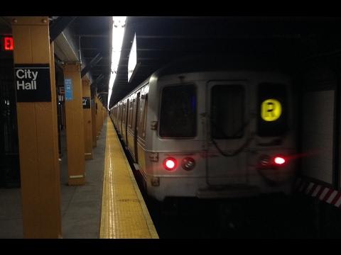 BMT Broadway Line: Brooklyn & Queens Bound R46, R68 & R160 (N) (R) Trains @ City Hall