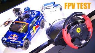 RC ADVENTURES - RED BULL FPV VW RALLY CAR & GAMiNG WHEEL MOD! Carisma AWD, FAT Shark, Thrustmaster