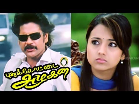 Pudukkottai Azhagan Tamil Movie scenes | Trisha's true face | Nagarjuna mass fight scene | Nagarjuna