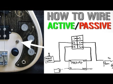 How To Wire An Active Passive Bypass Switch For A Bass Preamp Youtube