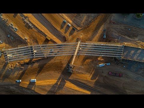 South Mountain Freeway - I-10 Papago Segment Construction Progress - Drone Flythrough
