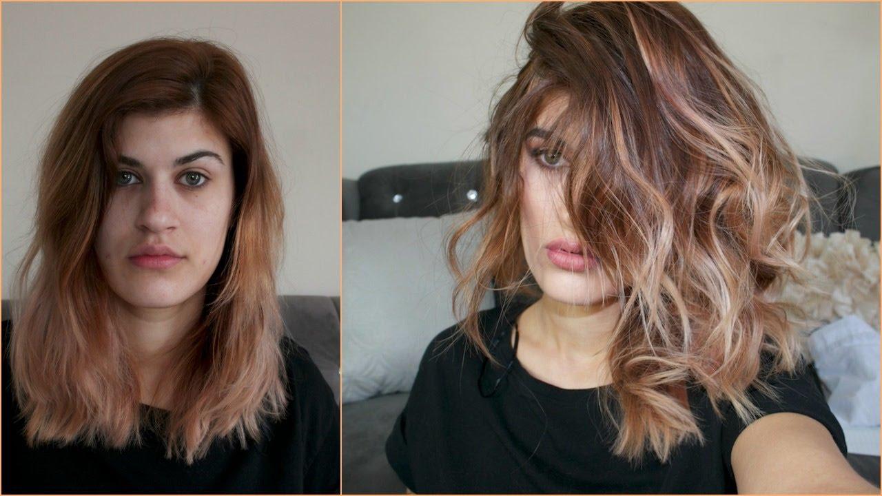 Voluminous Flat Iron Waves How I Style My Medium Length Hair Youtube