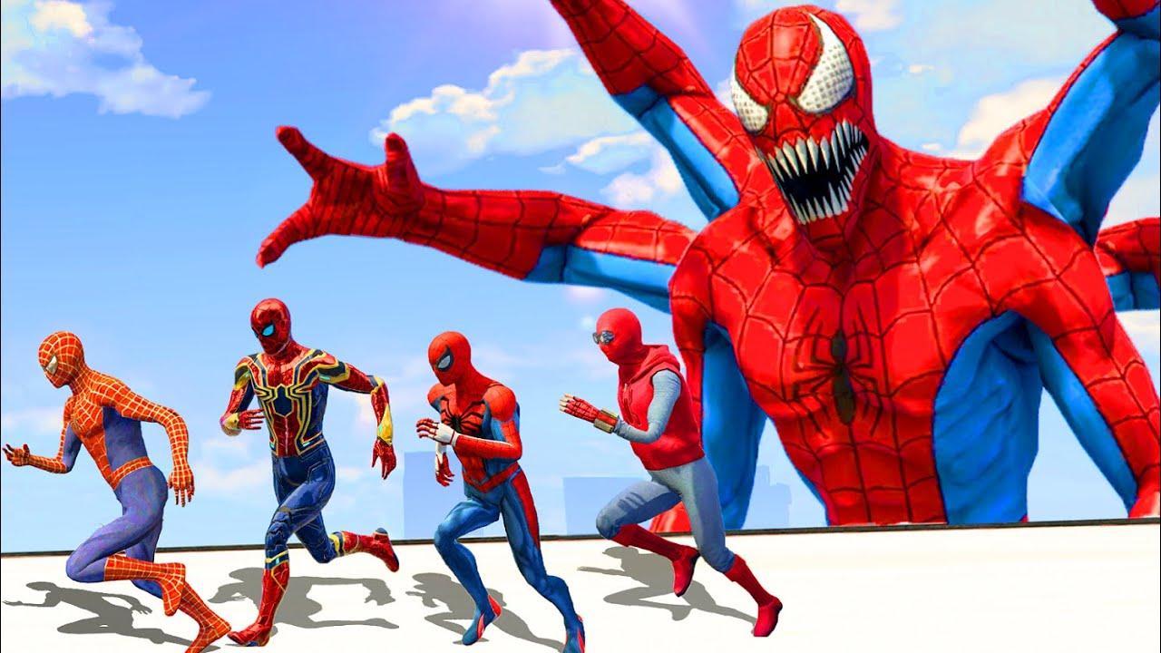 Download Spider-Verse | Spiderman & Iron-Spider & Spider Man Home Made Suit vs Spider-Man Doppleganger