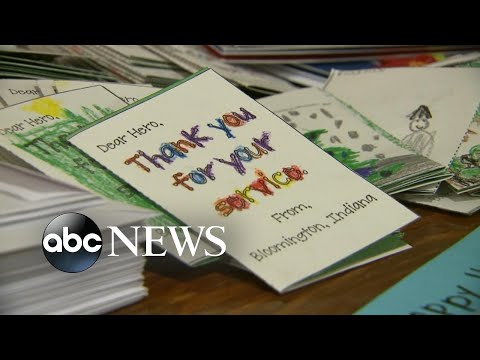 Woman collects 160,000 holiday cards to send to troops