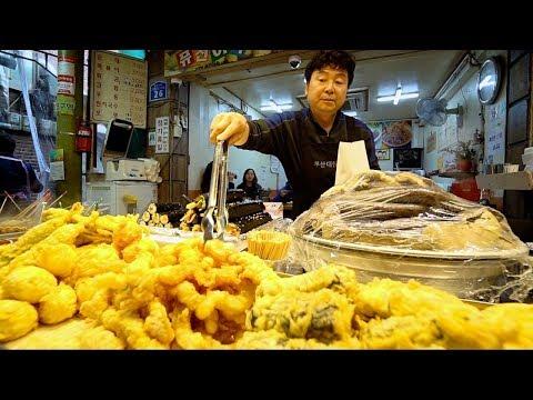 KOREAN STREET FOOD at Mangwon Market | BEST KOREAN FOOD Market In Seoul? SPICY Street Food in Korea