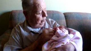 GRANDPA MEETS GREAT GRAND-DAUGHTER