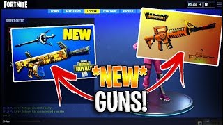 **NEW** LEAKED WEAPONS/GUNS ON FORTNITE BATTLE ROYALE (GAMEPLAY)