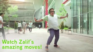 Zalif Sidek Dances to Any Song Anytime Anywhere with Maxis Spotify