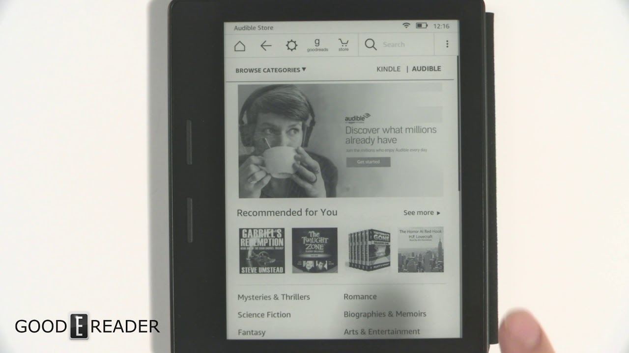 Kindle Oasis 2016 can now play Audible Audiobooks