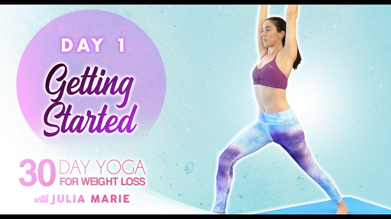 30 Day Yoga for Weight Loss Julia Marie 🔥 30 Minute Workout, Beginners Fat Burning, At Home   Day 1