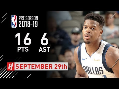 Dennis Smith Jr. Full Highlights vs Beijing Ducks - 2018.09.29 - 16 Pts, 6 Ast!