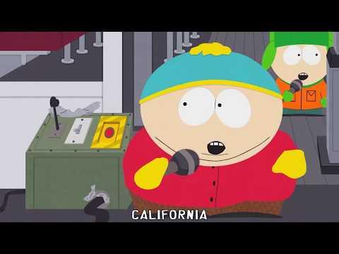♪ California Love ♪ South Park Song - Lyrics karaoke