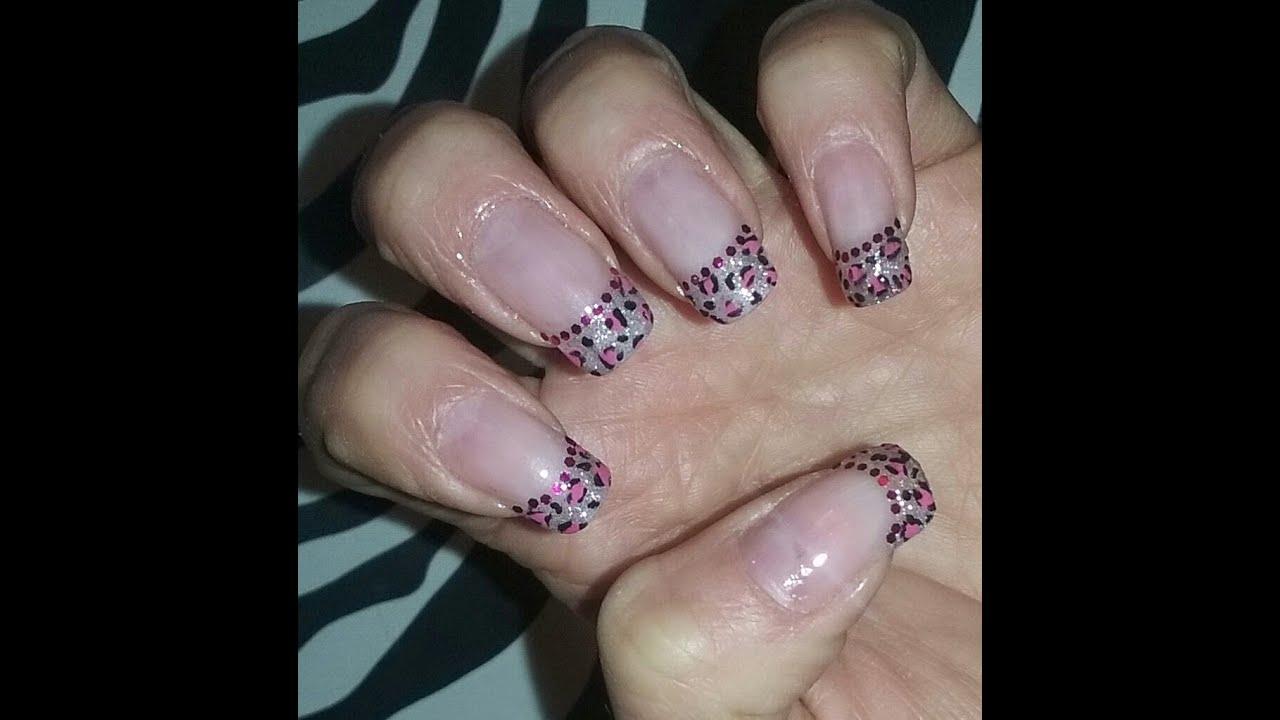 Pink Leopard Nails Uñas Leopardo Rosa