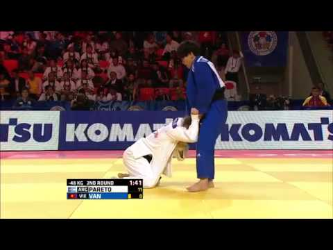 Paula Pareto vs Ngoc Tu Van World Judo Championships 2015 - Astana