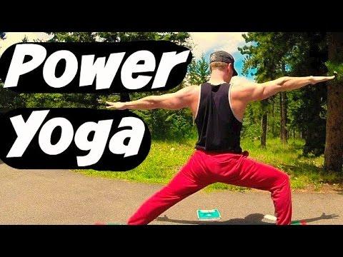 20 Min Power Yoga for Athletes - Yoga Workout for Strength & Flexibility #yogaforathletes #poweryoga