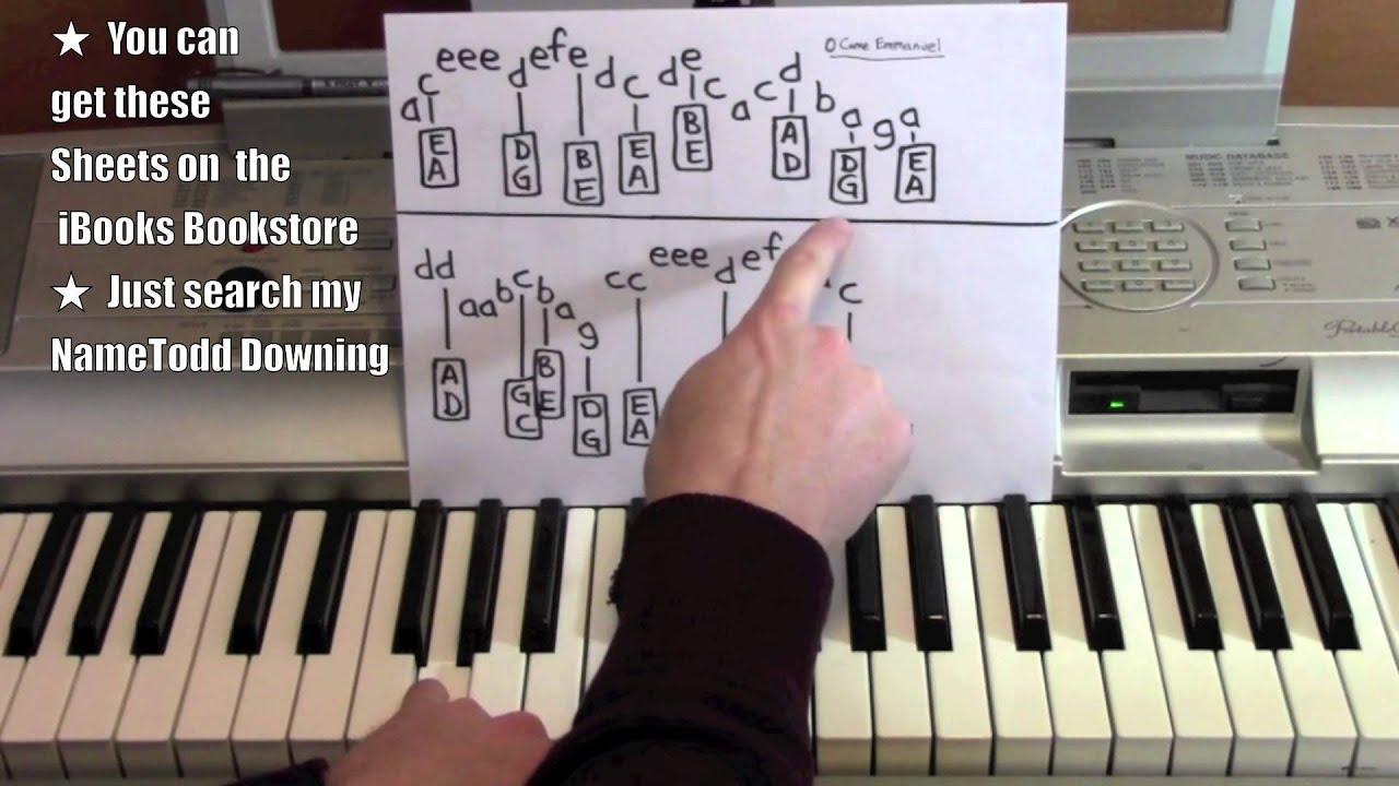 O Come O Come Emmanuel Piano Sheet Music Erkalnathandedecker