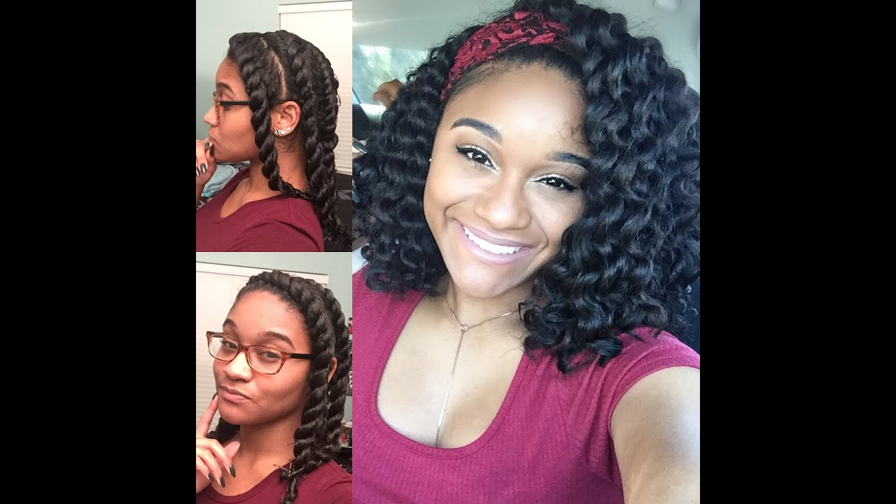 Natural Hair Flat Twist Out Tutorial Youtube