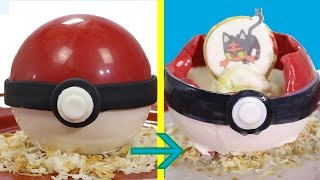 POKÉMON Surprise Inside Desserts - How to make Candy Pokéballs | Pokémon Sun and Pokémon Moon