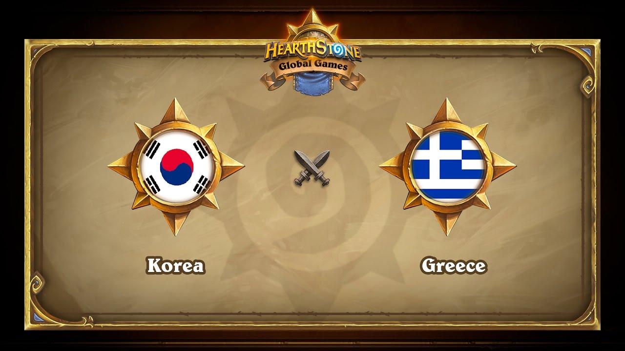 Korea vs Greece, Hearthstone Global Games Group Stage