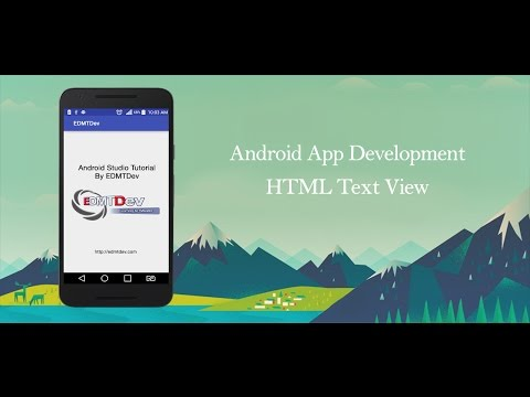 Android Studio Tutorial - Html Text View