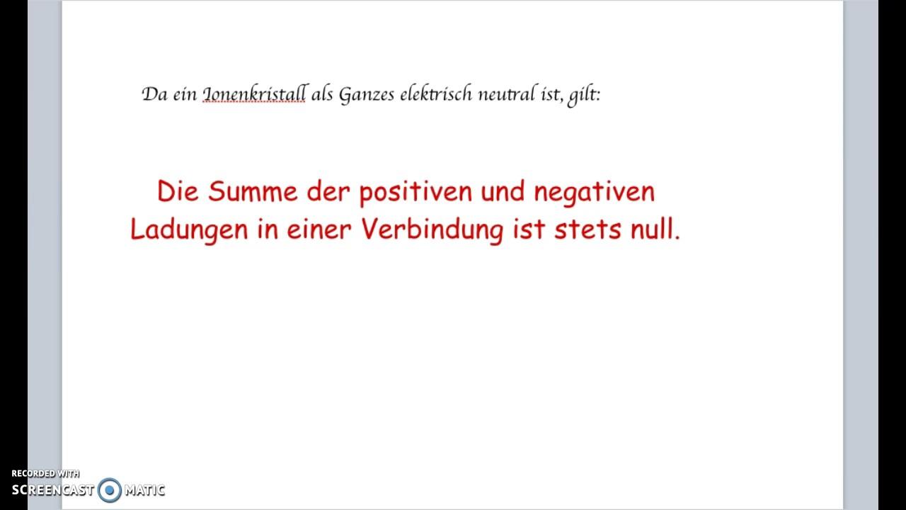 Ionenbdg: Übung zur Benennung von Salzen - YouTube