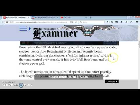 """""""HOMELAND SECURITY EYES SPECIAL DECLARATION TO TAKE CHARGE OF ELECTIONS"""""""