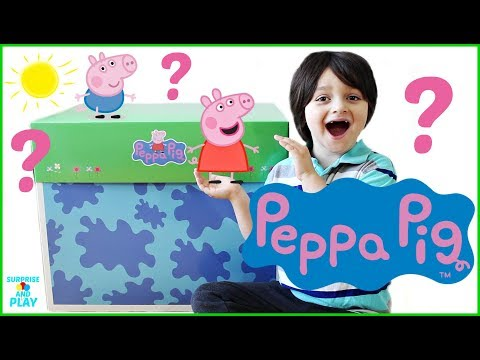 GIANT Peppa Pig Box Full Of Surprise Toys From The Peppa Pig Series