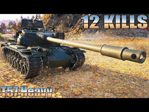 T57 Heavy, РЕКОРДНЫЙ БОЙ, 12 КИЛОВ, 8к УРОНА НА ГРАНИЦЕ ИМПЕРИИ