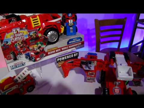 Transformers Rescue Bots at Toy Fair 2012 - Video 1