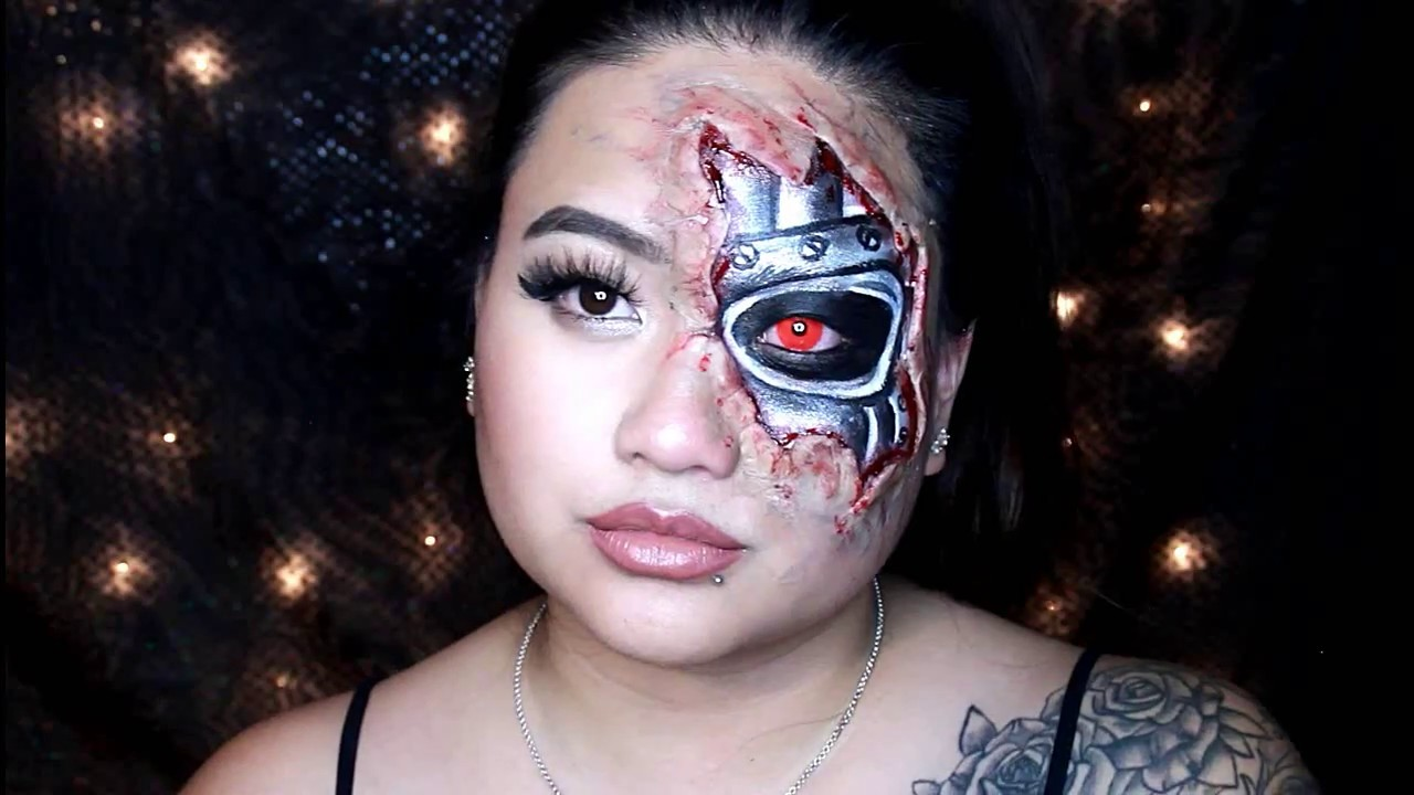 Terminator Makeup  sc 1 st  YouTube & Terminator Makeup - YouTube