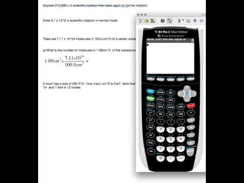 Ti-84 Calculator for chemistry part 1
