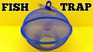 How To Make a Fish Trap With Mesh DOME and Plastic Bottle
