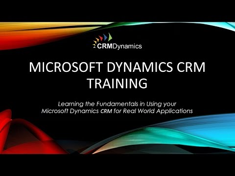 Microsoft Dynamics CRM Training – Managing Leads and Opportu