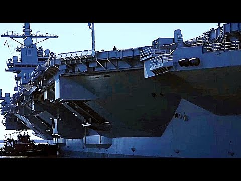 at last new gigantic supercarrier uss gerald r ford begins sea