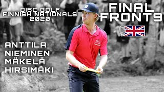 Disc Golf Finnish Nationals 2020 FINAL ROUND Lead Card F9