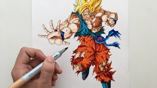 Drawing Goku Ssj1(Battle Damaged)