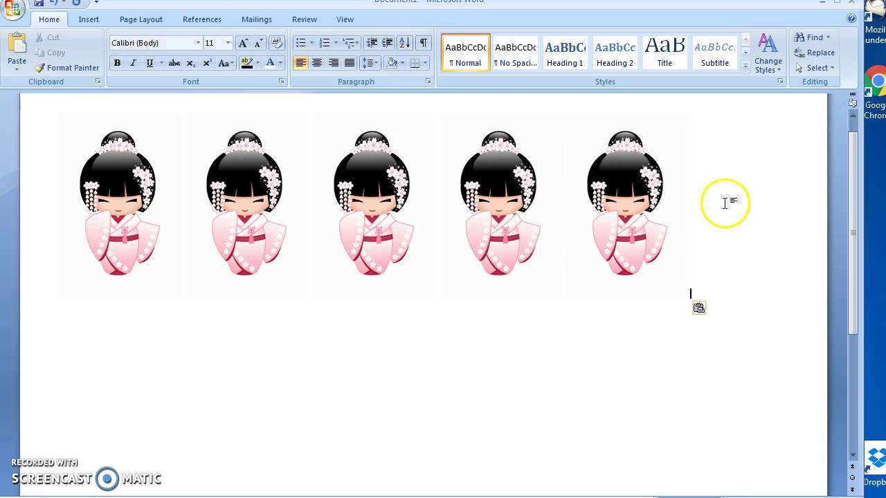 hight resolution of making mirror images on word 2007