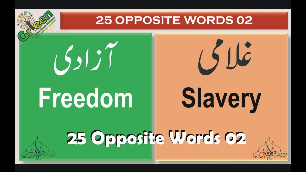 25 Opposite Words English 02 | Opposite Words | English Antonyms With Urdu  Meanings