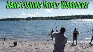 How To Fish 3 Wobblers At Once Bank Fishing Salmon